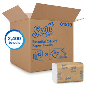 Scott White C-Fold Paper Towels - 2400/CS (01510)