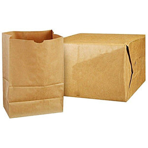Paper Bag, Brown, 1/6-BBL 57#, Grocery Bag - 500/BNDL (80076)