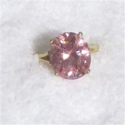 Pink Cubic Zirconia Right Hand Ring