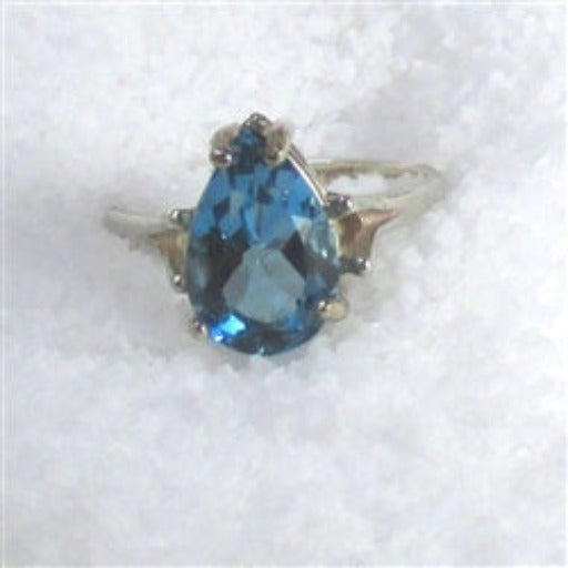 Topaz Ring Pear Cut
