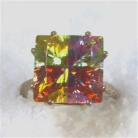 buy multi-color cubic zirconia fashion ring