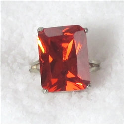 Buy Red Fashion Right Hand Ring Emerald Cut Red Gemstone Ring
