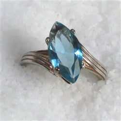 Buy Blue Topaz Marquise Cut Ring