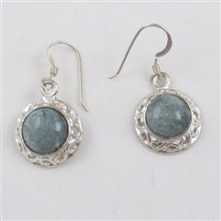 California Blue Jade Gemstone Drop Earrings