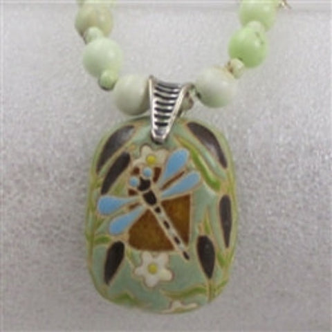 Handmade Green pendant necklace