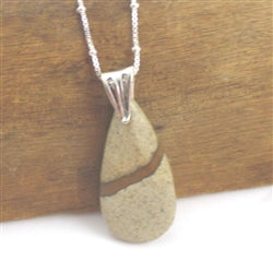 Classic Jasper Pendant Necklace on Sterling Silver Chain