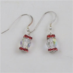 Fire and Ice Crystal earrings