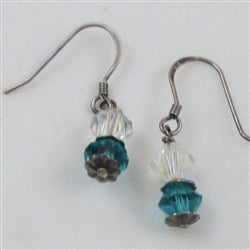 A nice pair of crystal earrings for that young lady;s first apir of earrings