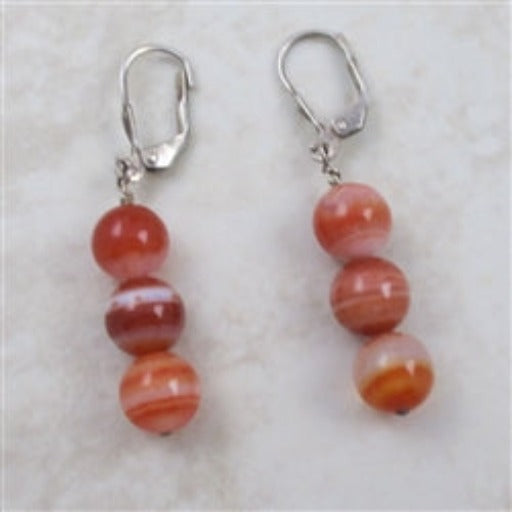 Classic spicy agate earrings