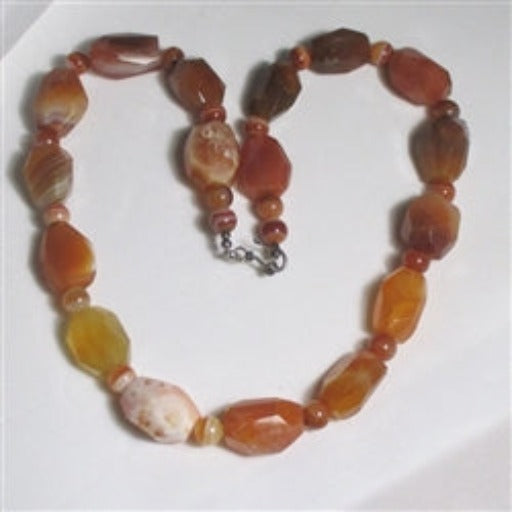 Bigger Bolder African agate nugget necklace