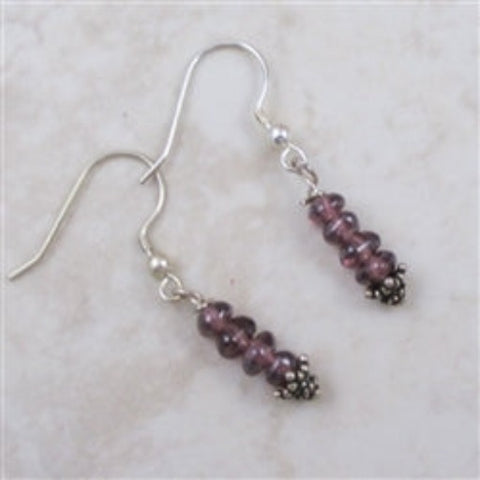 Classic amethyst gemstone earrings