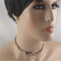 Beige & Brown Choker Necklace Narrow Style