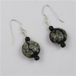 Handmade Artisan Bead & onyx Earrings