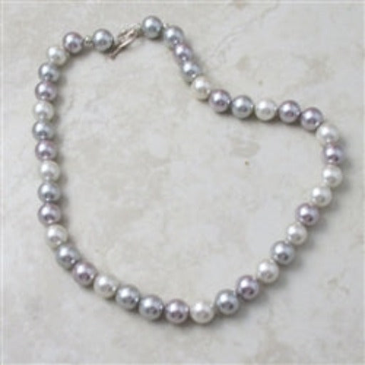 Classic  pearl necklace Shell Pink