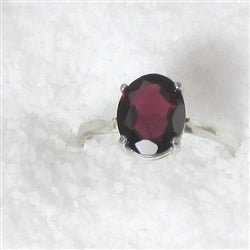Garnet right hand ring for a woman