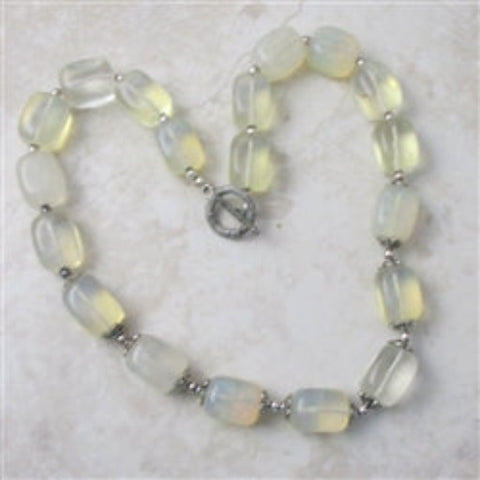 Big bold chunky statement necklace in quartz nuggets