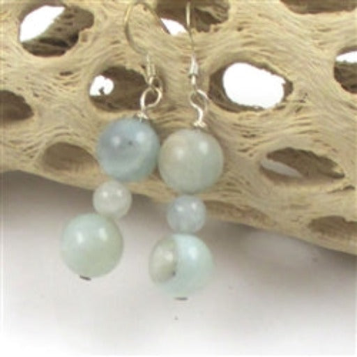 Classic amazonite gemstone earring