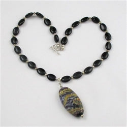 Buy onyx necklace with artisan handmade pendant online