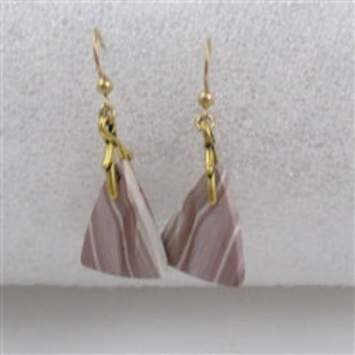 Hickoryite gemstone & gold earrings