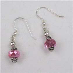 Handcrafted pretty sparkly Czech crystal earrings