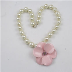 Big Bold Flower Power Statement Pearl Necklace