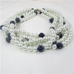 Buy big bold multi-strand pearl necklace