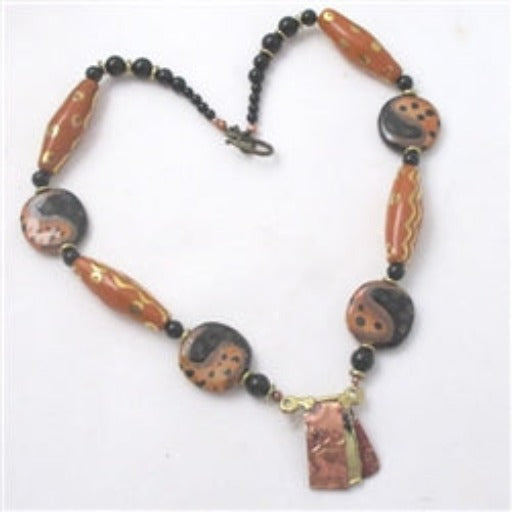Fair Trade Kazuri Bead black necklace