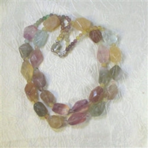 Buy Big Bold Chunky Nugget Necklace Double Strand Fluorite Bead