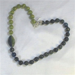 Buy Blue & Green Beaded  Kazuri Necklace Fair Trade Beads