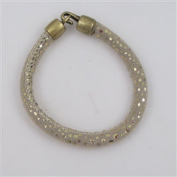 Soft & supple beige & gold leather cord bracelet