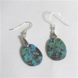 Turquoise Earrings Variegated Southwest Turquoise
