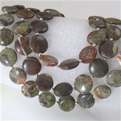 Rain forest jasper gemstone multi-strand necklace