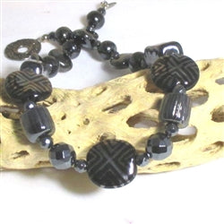 Buy Handcrafted Black Bead Kazuri Necklace in Handmade Fair Trade Bead