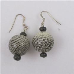Classic gemstone snakeskin earrings