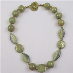 green socially aware Kazuri necklace