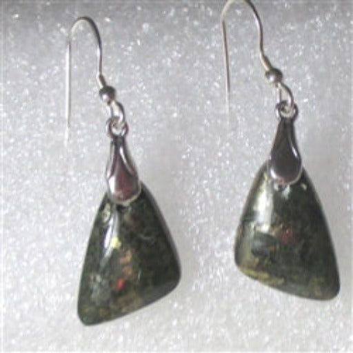 Rare gemstone chalcopyrite earrings