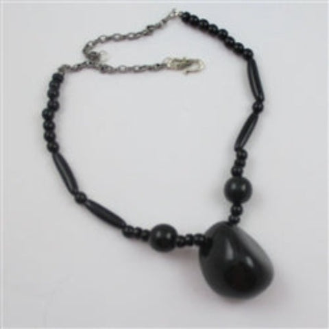 Eco-friendly black South American Tagua nut neck wear