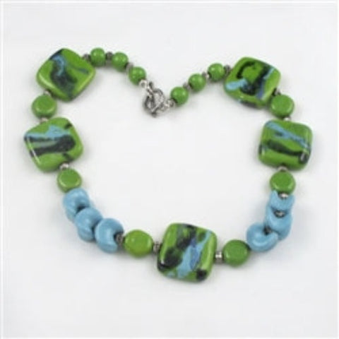 Buy Green Apple Kazuri Necklace