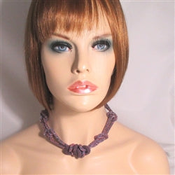 Unique Lilac Beaded Bead Necklace