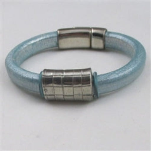Aqua Thick Leather Cord Bracelet