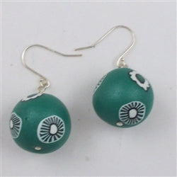 Socially conscious jewelry - Green fair trade bead Samunnat Earrings
