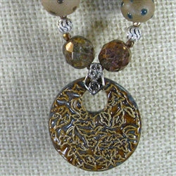 handmade brown pendant necklace
