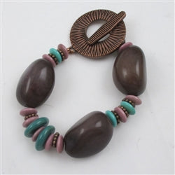 Buy purple tagua nut bracelet