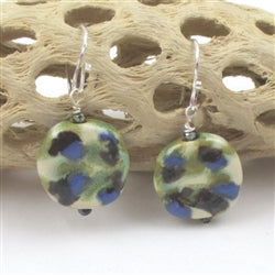 Blue & Green Kazuri Earrings Socially ConsciousJewelry
