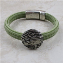Olive green rubber woman's bracelet