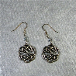 Buy pewter coin drop earrings