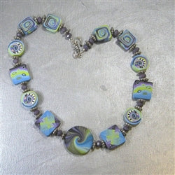 buy blue artisan handmade necklace