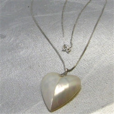 Buy Mother of Pearl Heart pendant Necklace