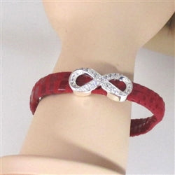 red leather holiday bracelet