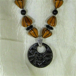 Best buy in Chunky Beaded Kazuri & Swazi Pendant Necklace